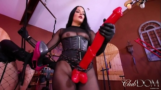 Mistress michelle has lots of horse-power/caned as an sample