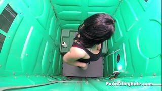 Porta gloryhole engulfing wang by a lake