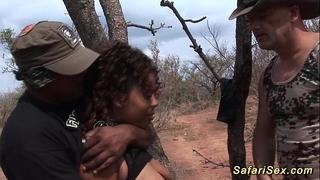 Babe punished at the safari tour