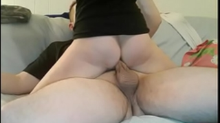 Amateur girlfriend in socks fuck hard on the ottoman and acquire biggest creampie