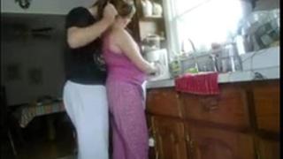 Fucking girl in kitchen