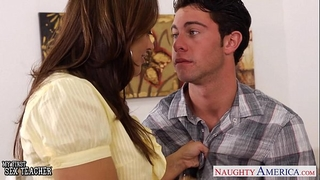 Chesty teacher francesca le fuck her youthful student