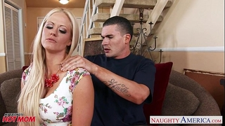 Very hot mama holly heart acquires large melons drilled