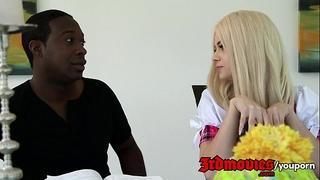 Elsa jean copulates her black coach