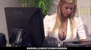 Shewillcheat - breasty milf boss copulates recent employee