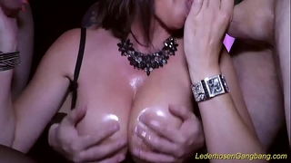 Crazy group sex with breasty milf dacada