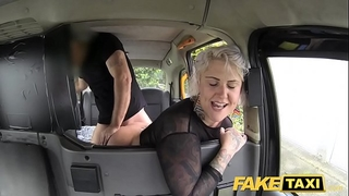 Fake taxi golden-haired milf acquires surprise anal sex and rims the driver