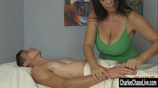 Charlee follow large tit glad ending massage