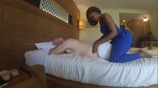 Massage in africa with fellatio and cum eating