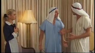Demia moor, nasty maid enjoys dp