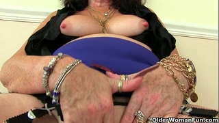 British grannies zadi and pearl in nylons with suspenders