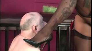 Ebony nylon bitch goddess with thrall
