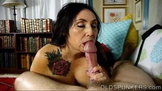 Super cute fat old spunker desires u to cum in her throat