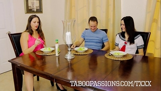 Horny whore sister addie juniper bonks brother during the time that milf watches