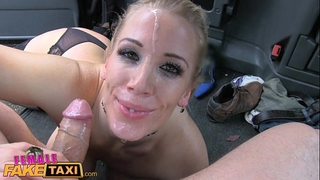 Female fake taxi 3 gripping sessions and cumshots in the back