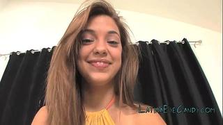 Latina legal age teenager glazing