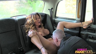 Female fake taxi hawt driver can't live without a hard knob