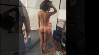 Rihanna in nature's garb and topless consummate body