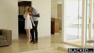 Blacked golden-haired babysitter trillium bonks her dark boss