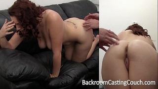 Big tit dilettante painful 1st anal on casting bed