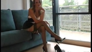 High heels maid joi