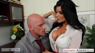 Office sweetheart in high heels romi rain fucking