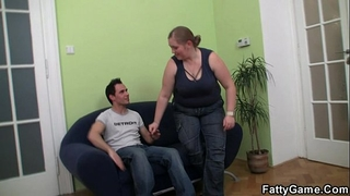 Fatty picks up dude for sex
