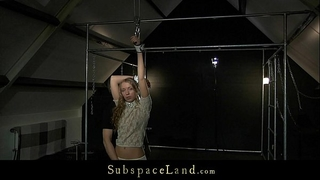 Curly sinless golden-haired mary fantasy hard s&m training