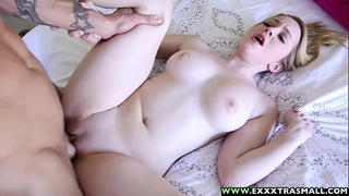Exxxtrasmall - miniature bald alexia gold taking a massive schlong