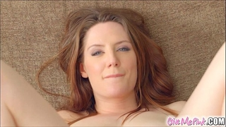 Give me pink british redhead stretches her booty with toys
