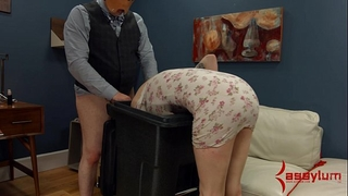 Goth hotwife receives anal torture and facefucking in the garbage