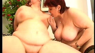 two sexy chunky non-professional milf in a trio with facial