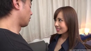 Slim Asian babe with huge sexual appetite gets eaten out and deeply fucked
