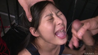 Cute Asian girl gets tied up and abused by two horny masters