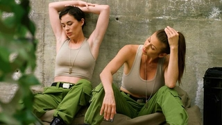 Lesbian military chicks licking and fingering each other's pussy
