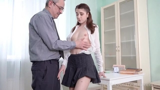 Young cutie gets an intense anal pounding from her teacher