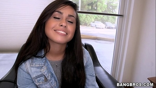 Cute shy latin babe wishes to be in porn