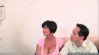 Cuckold hubby watches his horny white wife being drilled by a giant dark shlong