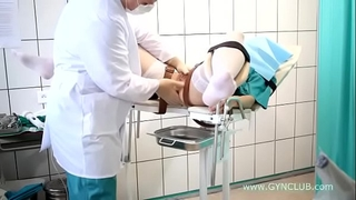 Teen slutty wife on a gynecological chair. full inspection! (34)