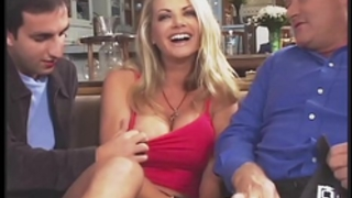 Amazing vicky vette bonks 4 males plus one old fellow!