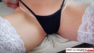 First class pov - see nikki knightly suking and fucking a large pecker