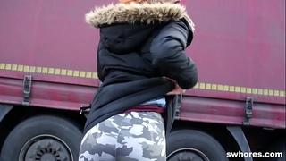Redhead anorexic punker street doxy engulfing knob truly worthy