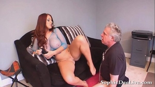 Lick mistresse sophie dee moist wet crack serf!