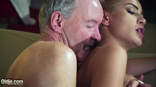 Old dude dominated by hawt sexy hottie in old juvenile femdom hardcore fucking