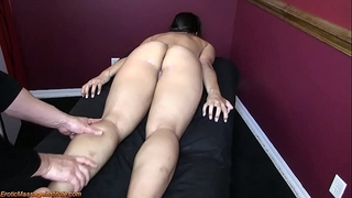 Hot oriental receive erotic massage and pleased ending