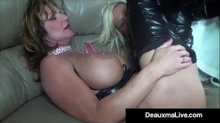 Role play by hot cat woman milf deauxma ends in three way fuck!