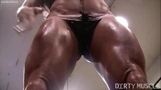 Naked female bodybuilder ashlee chambers hot workout