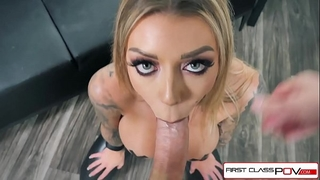 First class pov - see karma rx take her face hole and fur pie full of rod