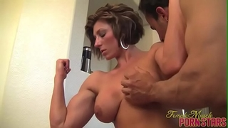 Female bodybuilder domme amazon receive worshiped
