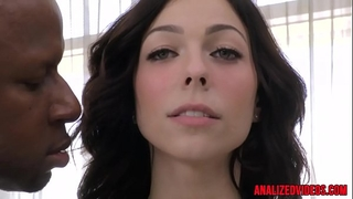Busty anal sweetheart fucked into ass by dark knob